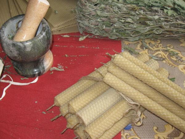 Свечи из вощины, катаные вручную | Ярмарка Мастеров - ручная работа, handmade