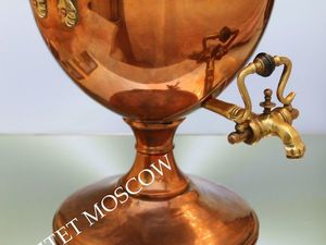 Самовар антикварный фонтан медь бронза Англия 4л 2. Ярмарка Мастеров - ручная работа, handmade.