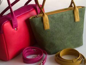 Пошив сумки из кожи   Ярмарка Мастеров - ручная работа, handmade