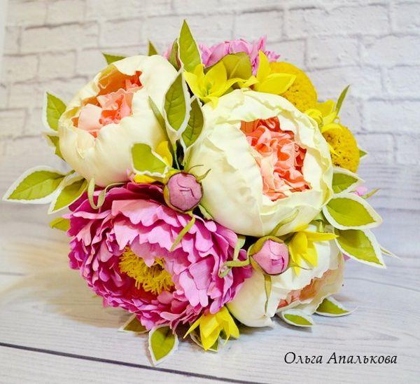 свадебные аксессуары, цветы из фоамирана, декор интерьера