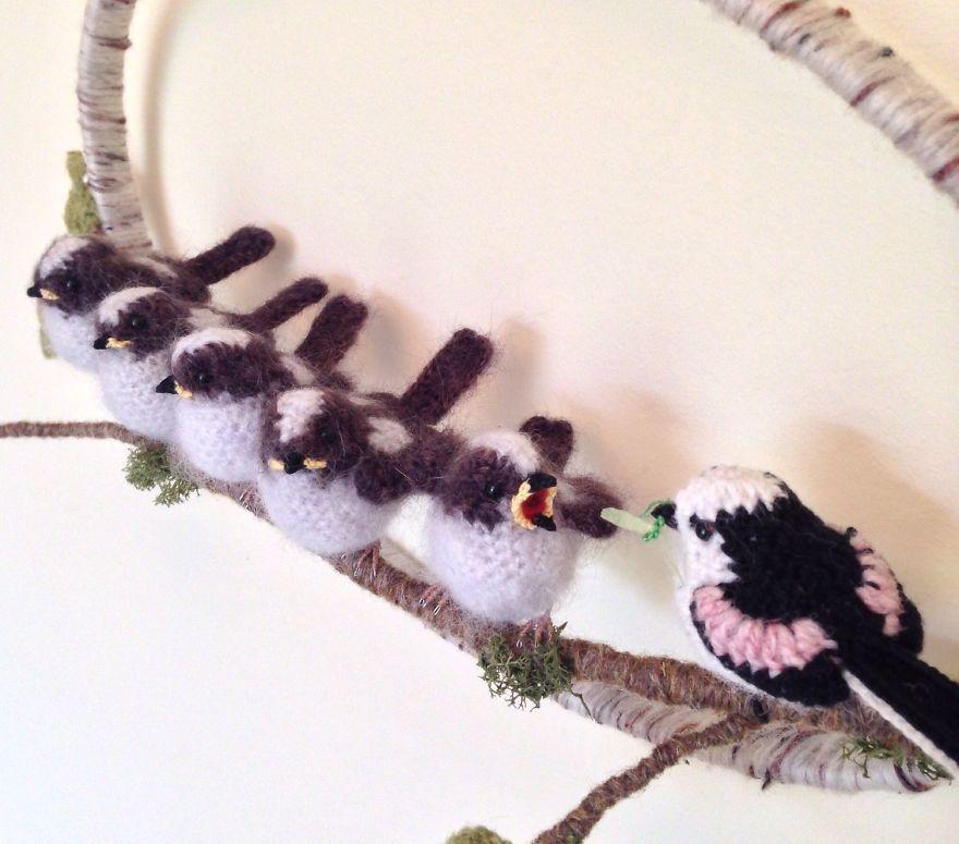 Вот-вот взлетят: реалистичные вязаные птицы Jose Heroys, фото № 24