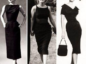 Маленькое черное платье для кинодив 1950-1960 годов. Ярмарка Мастеров - ручная работа, handmade.