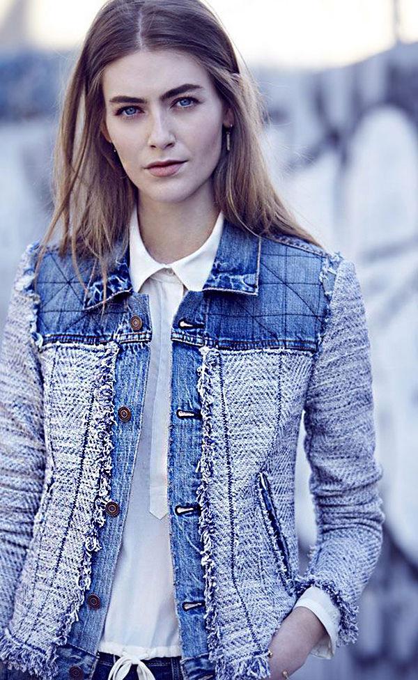 Многообразный декор джинсовых курток: 50 интересных вариантов, фото № 43