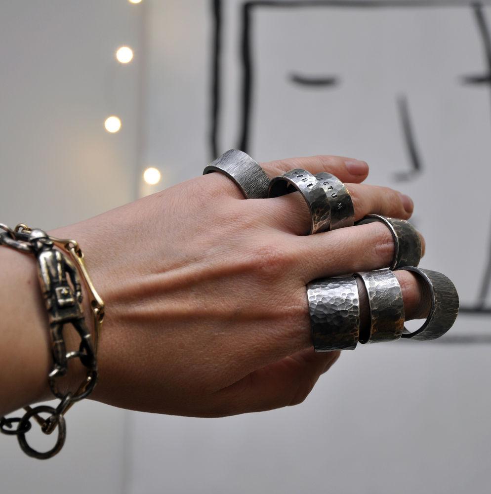 мастер-класс, фактурные кольца