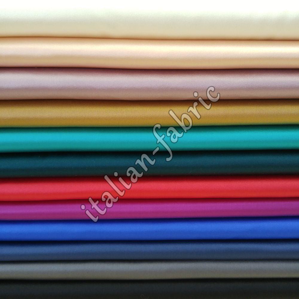 итальянские ткани, итальянский шелк, однотонный шелк, шелковое платье, шёлк натуральный, шелк с эластаном, атласный шелк