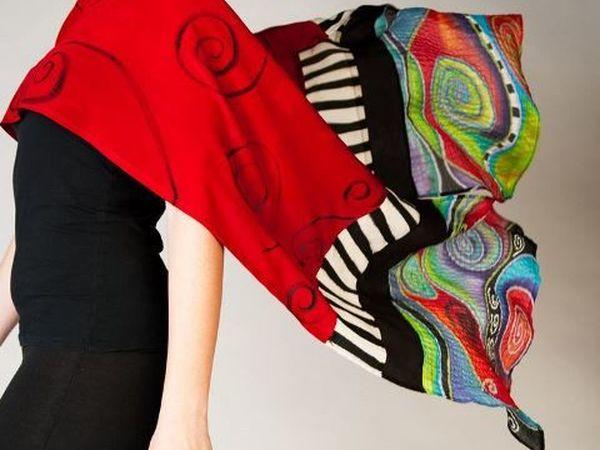 Роспись шелковых платочков. | Ярмарка Мастеров - ручная работа, handmade