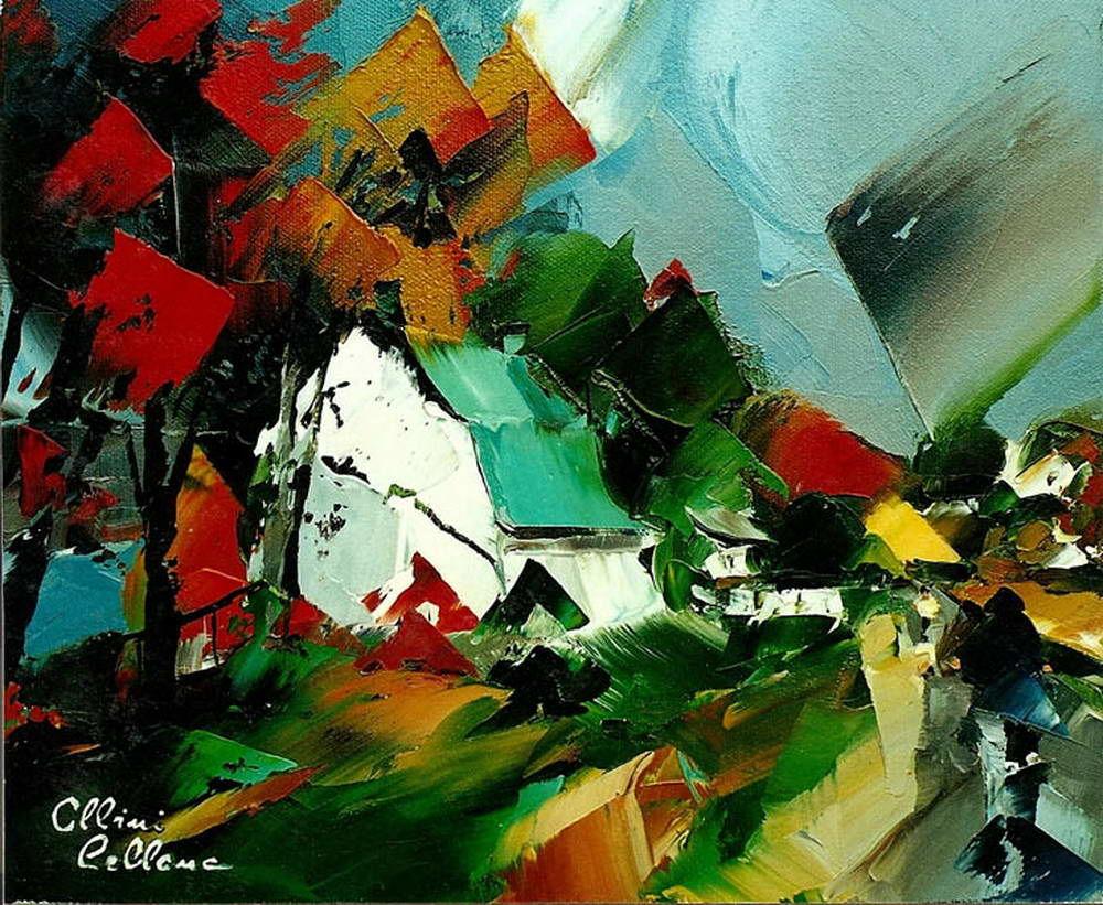 Живопись мастихином художника Альбини Леблана