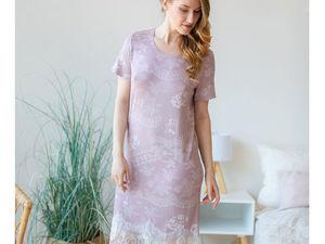 АУКЦИОН! Ночная сорочка из итальянской вискозы, старт 1500 руб. Ярмарка Мастеров - ручная работа, handmade.