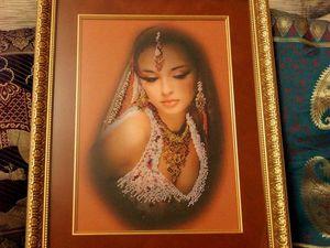 """Картина """"Восточная танцовщица"""". Ярмарка Мастеров - ручная работа, handmade."""