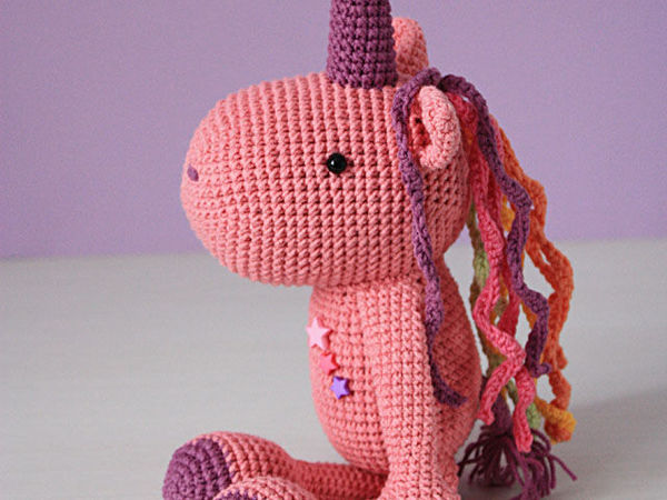Вяжем крючком игрушку Единорог | Ярмарка Мастеров - ручная работа, handmade