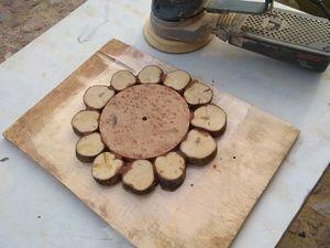 Делаем оригинальные часы из спилов. Часть 2. Второе склеивание. Ярмарка Мастеров - ручная работа, handmade.