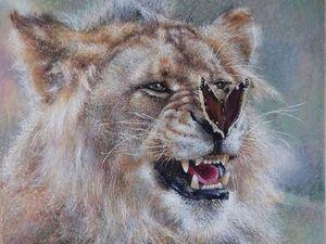 Рисуем льва с бабочкой, или Как я обычно рисую своих зверят. Ярмарка Мастеров - ручная работа, handmade.