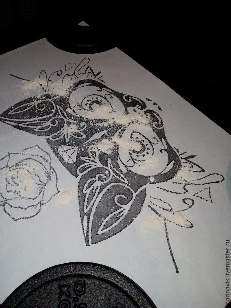 Как перенести рисунок на чёрную ткань, фото № 10
