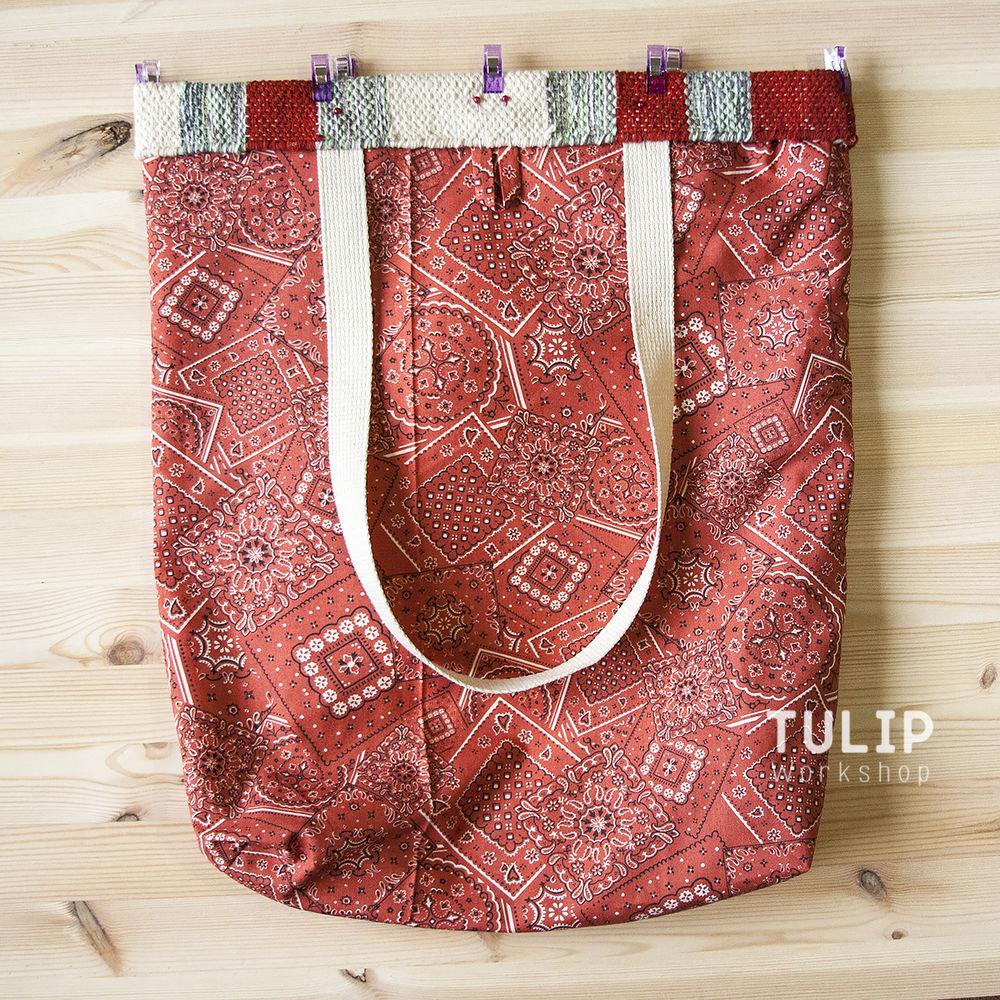 Шьем сумку-шоппер из домотканого коврика без выкройки, фото № 9