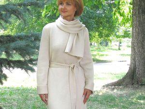 """Аукцион на вязаное пальто """"Надин-2"""" из полушерсти мятного оттенка. Ярмарка Мастеров - ручная работа, handmade."""