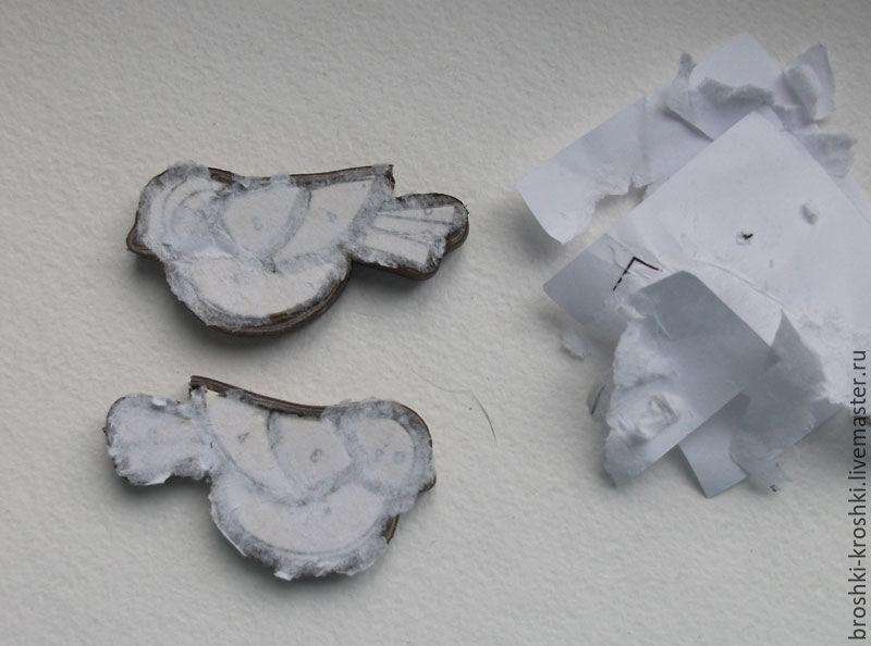 Делаем синичку в витражной технике из кожи, фото № 20
