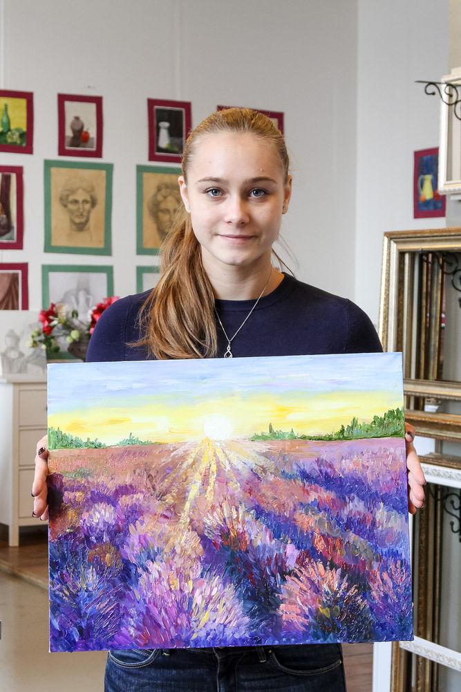 картина для интерьера, цветы ручной работы