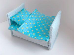 Делаем кроватку для куколки-малышки из обычной губки. Ярмарка Мастеров - ручная работа, handmade.