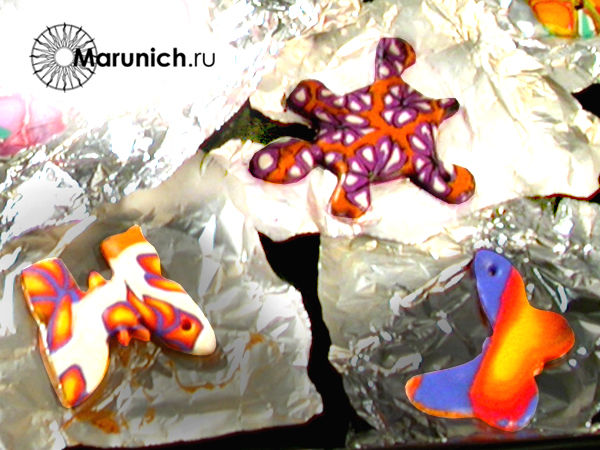 полимерная глина уроки для начинающих, украшения своими руками, авторские украшения, марунич