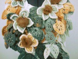 Оригинальные шарфики с мехом норки!!. Ярмарка Мастеров - ручная работа, handmade.