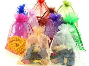 Подарочные мешочки из органзы на «Тара Товара». Ярмарка Мастеров - ручная работа, handmade.