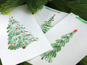 Learn to Draw a Christmas Tree. Three Easy Ways for Beginners. Livemaster - handmade