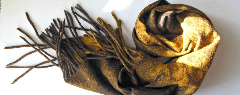 коричневый шарф, шарф шерстяной