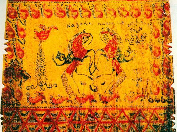 Основные черты мезенской росписи или Как отличить подделку | Ярмарка Мастеров - ручная работа, handmade