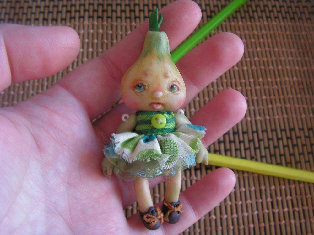 кукла, брошка, луковка, витаминная, зелень, аленины куклы