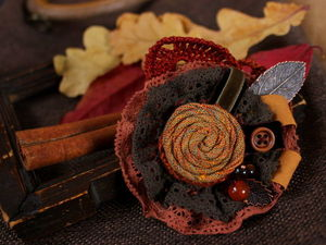 Symphony of Autumn Leaves: Creating a Textile Brooch. Livemaster - handmade