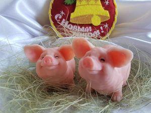 Акция 10+1! Символ 2019 года — свинья. Мыло поросенок. Ярмарка Мастеров - ручная работа, handmade.