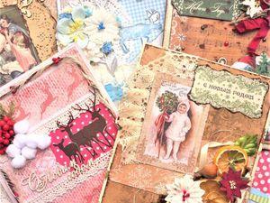 Скидка 10% на новогодние открытки   Ярмарка Мастеров - ручная работа, handmade