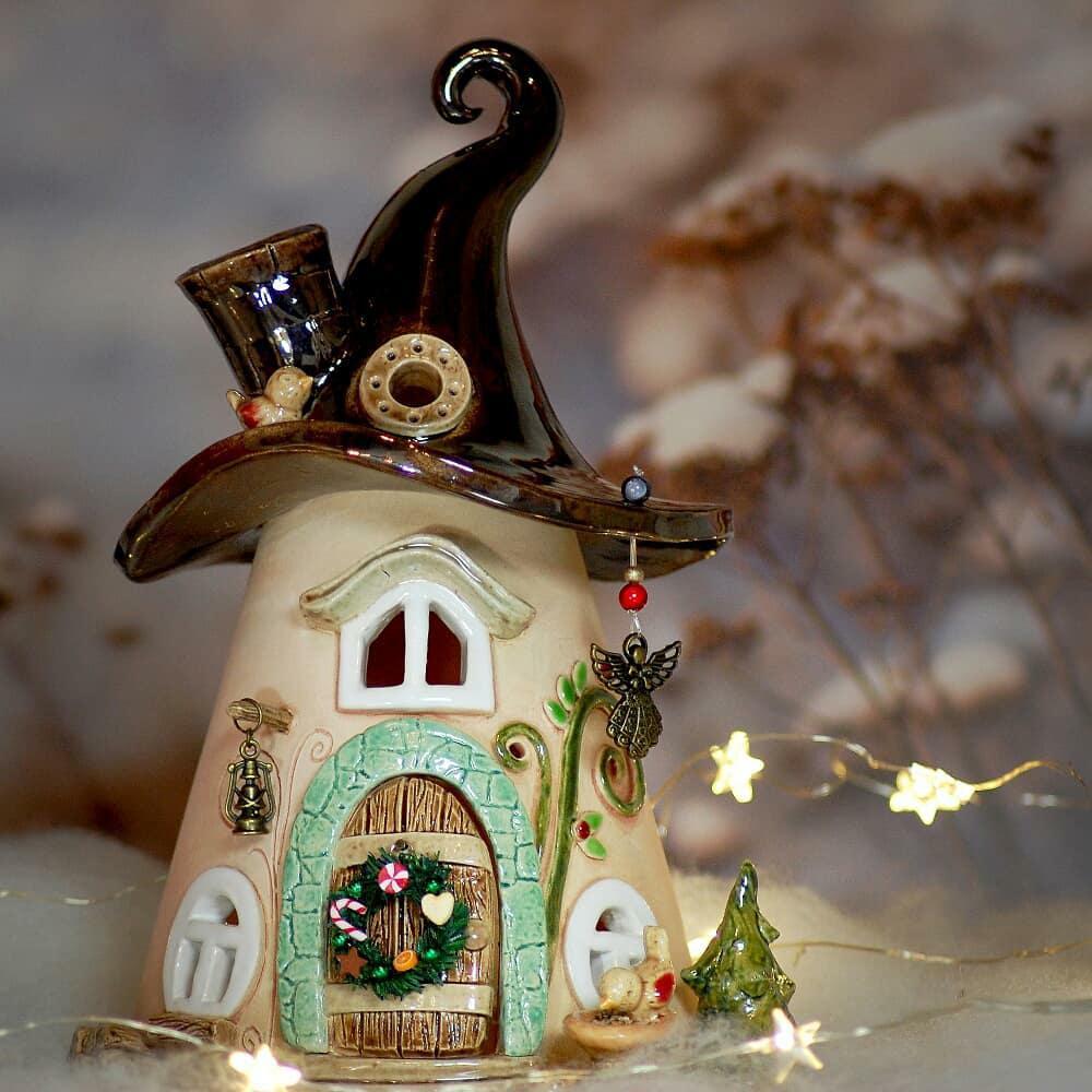 Домики для фей: волшебные керамические подсвечники Antje Rosemann, фото № 4
