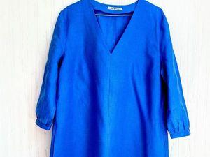 Аукцион на платье-рубашку из льна. Ярмарка Мастеров - ручная работа, handmade.