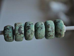 Натуральная хризоколла для Pandora и Trollbeads в наличии. Ярмарка Мастеров - ручная работа, handmade.