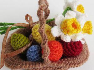17 идей для вязаных пасхальных корзинок. Ярмарка Мастеров - ручная работа, handmade.
