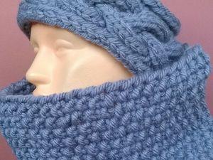 Повязка на голову + снуд. Ярмарка Мастеров - ручная работа, handmade.