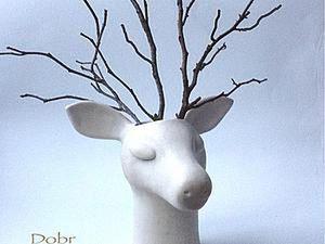Deer Vase Diy Project. Livemaster - handmade