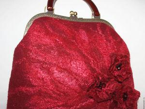 Мастер класс Валяение сумочки на фермуаре   Ярмарка Мастеров - ручная работа, handmade