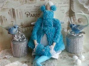 Видеообзор - Тильда зимний Ангел на коньках. Ярмарка Мастеров - ручная работа, handmade.