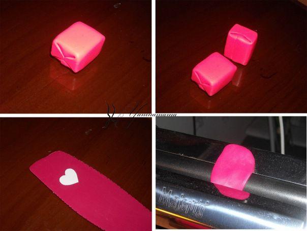 Вырезаем из бумаги сердце подходящего размера, прикатываем к глине, вырезаем по контуру.