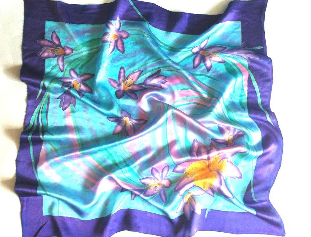 акция сегодня, батик шарф, платок шелковый, подарок подруге