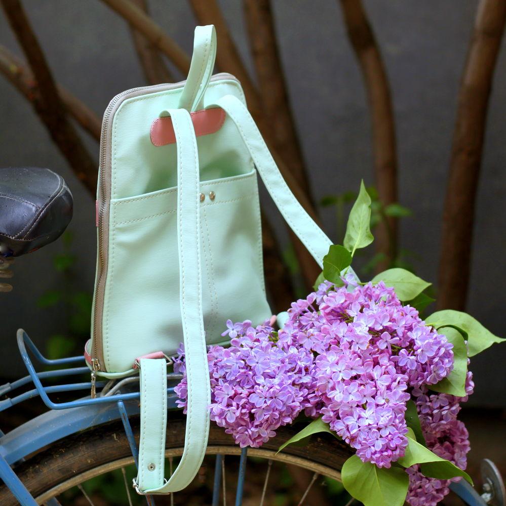 нежный рюкзак, эко-кожа