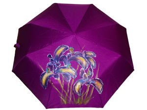 Зонт полуавтомат с ирисами за 1790 руб.. Ярмарка Мастеров - ручная работа, handmade.
