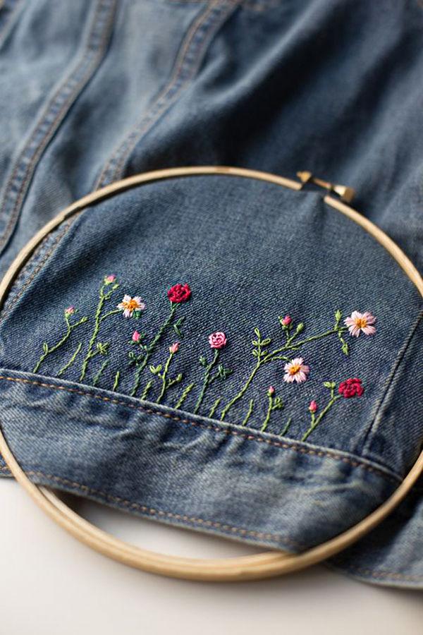 Многообразный декор джинсовых курток: 50 интересных вариантов, фото № 50