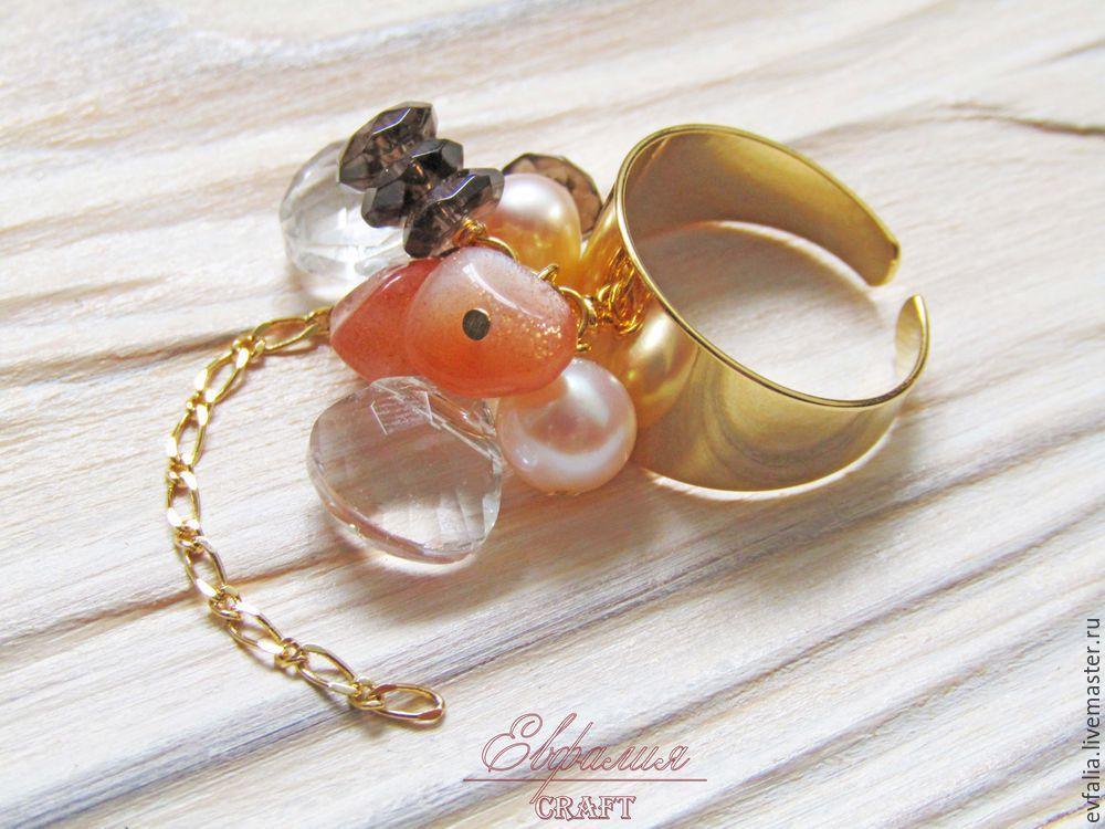 Мастер-класс кольцо с камнями
