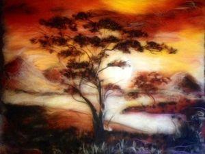 Шерстяная живопись - Картина из шерсти