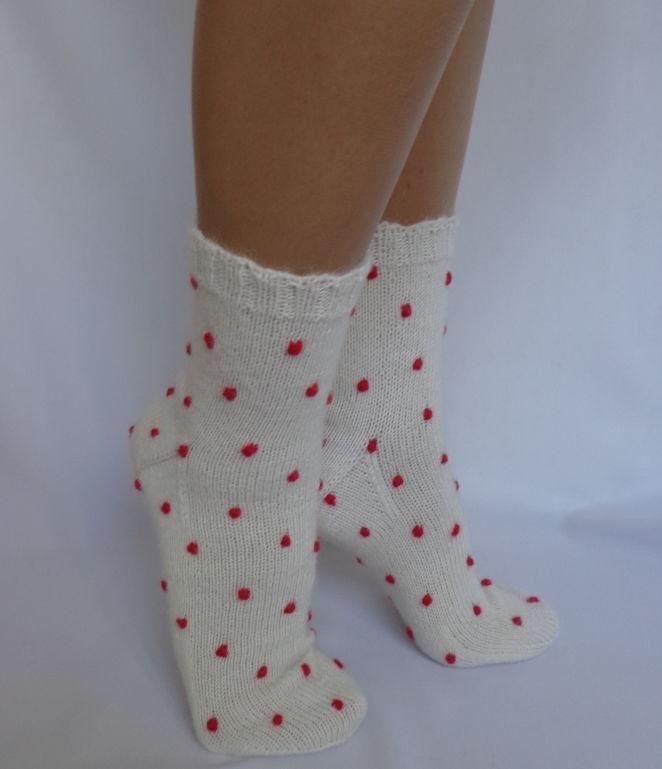 новогодний подарок, теплые шерстяные носки, подарок на день рождения, гольфы вязаные