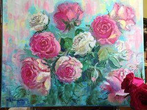 Вальс цветов - яркая декоративная картина маслом с 10% скидкой!. Ярмарка Мастеров - ручная работа, handmade.