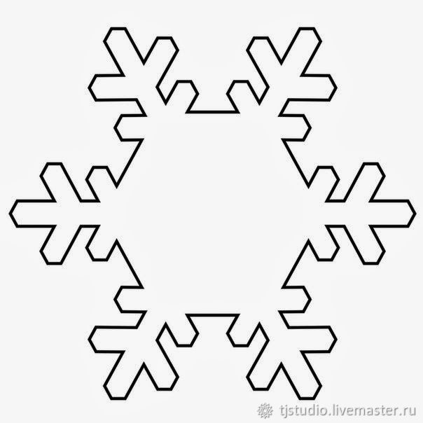 It is a graphic of Gutsy Snowflakes Print Out